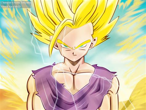 wallpaper dragon ball z gohan dragon ball z wallpapers teen gohan super saiyan 2