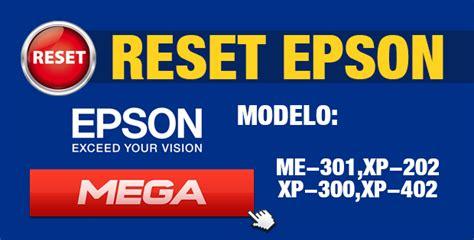 resetter epson xp 202 reset para impresora epson me 301 xp 202 xp 300 xp 402