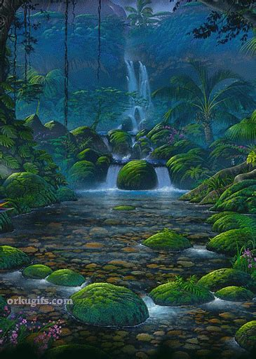 cartoon jungle waterfall graphics comments  images  facebook tumblr orkut   myspace