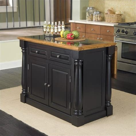 kitchen islands ontario roll out leg granite top kitchen island in black and oak
