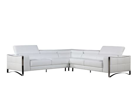 white bonded leather sectional sofa divani casa metz modern white bonded leather sectional sofa
