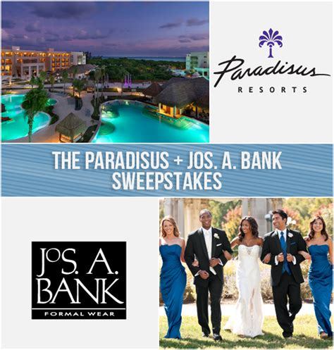 Bank Sweepstakes - paradisus jos a bank honeymoon sweepstakes