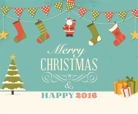 retro christmas wishes card vector art graphics freevectorcom