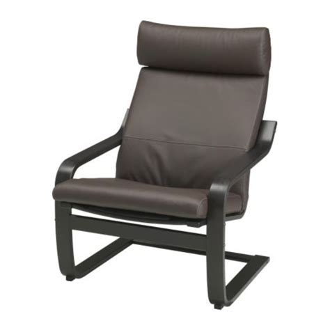 Black Armchair Ikea po 196 ng armchair glose brown black brown ikea