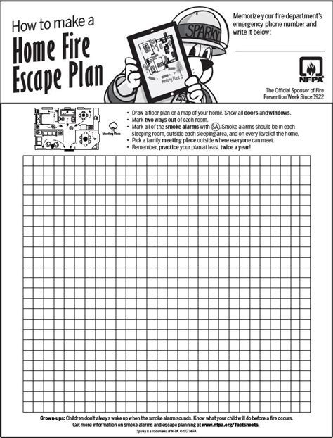 prevention week how to make a escape plan