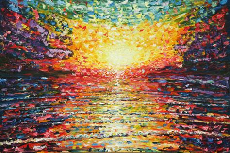 paintings for sale uk large painting for sale of colourful sunset from