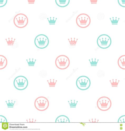pattern princess vector princess seamless pattern background stock vector image