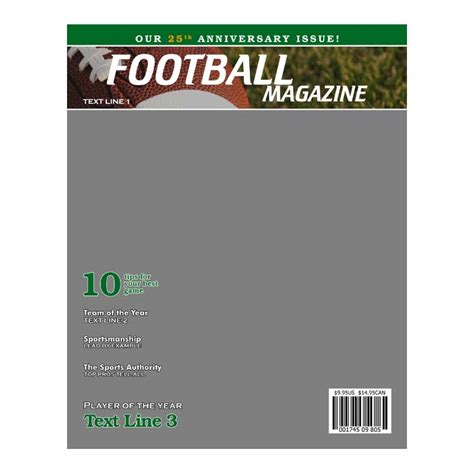 Football Product Templates H H Color Lab Sports Magazine Template