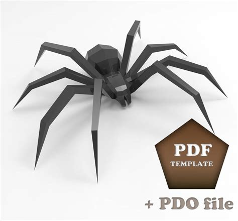 Spider Papercraft - spider papercraft low poly spider 3d papercraft spider diy