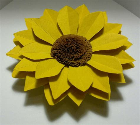 How To Make Paper Sunflowers - diy sunflower tutorial paper cardboard sunflower