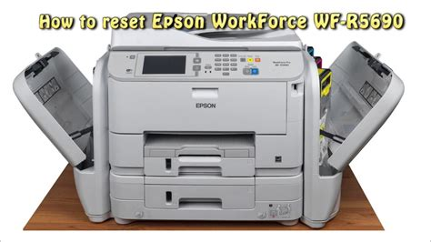 reset waste ink pad counter reset epson wf r5690 waste ink pad counter youtube