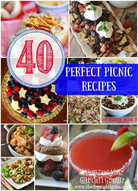 40 perfect picnic recipes for memorial day 4th of july or