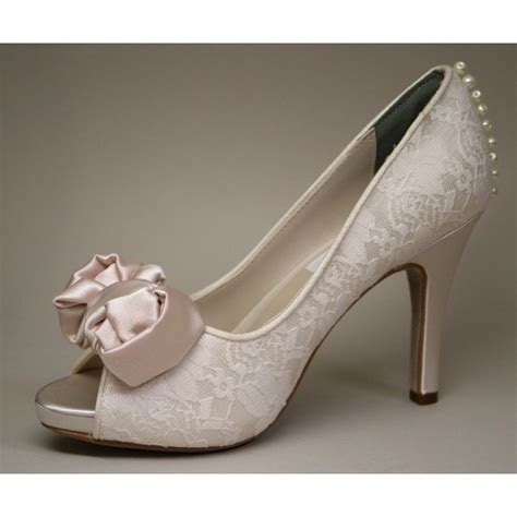 Blush Pumps Wedding by Blush Peep Toe Wedding Shoes Lace Stiletto Heels Pumps