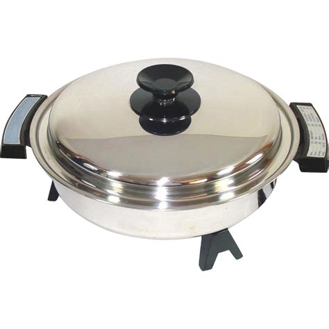 west bend webalco stainless steel oil core immersible electric skillet from coppertonlane on