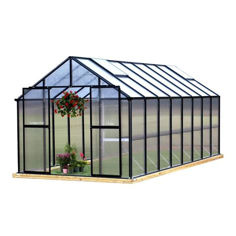 green houses home depot palram snap and grow 8 ft x 16 ft silver polycarbonate greenhouse 701505 the home