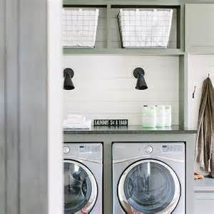 Laundry Room Shiplap Laundry Room With Gray Barn Door On Rails Cottage