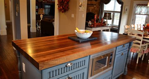 Kitchen Island With Butcher Block Top choosing the right kitchen countertops guest post