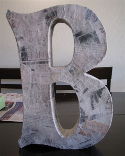 How To Make Large Paper Mache Letters - 24 diy paper mache letters guide patterns