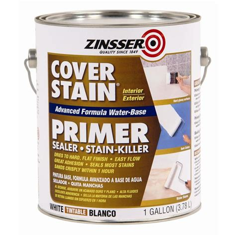 zinsser  gal white cover stain water based interior
