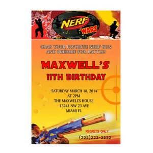 nerf wars birthday party invitation printable mary