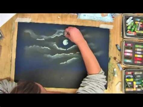 how to draw a boat with oil pastels moonlight skies pastel drawing youtube