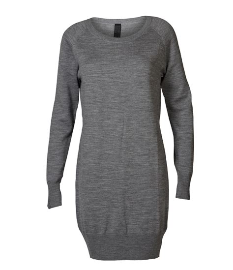 Dress Joyfull joyfull grey wool dress 100 wool