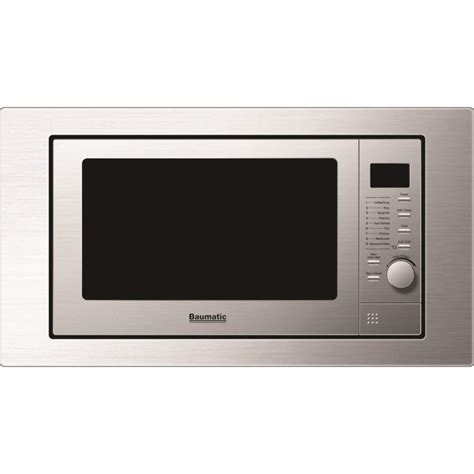 baumatic bmgi250ss 25 litre built in microwave oven with grill stainless steel appliances direct