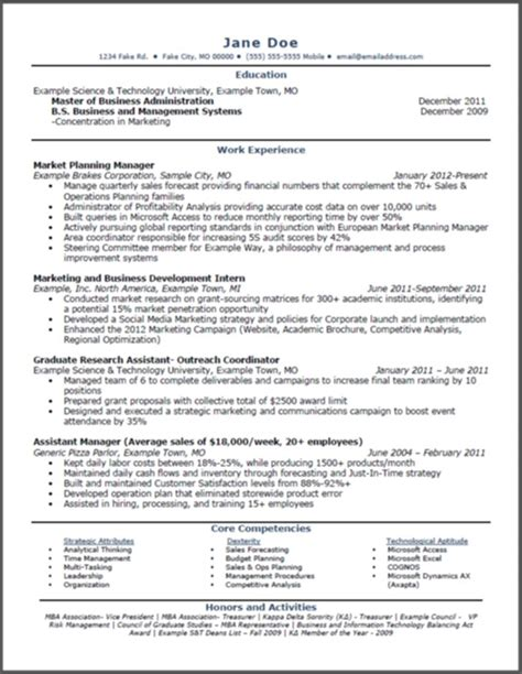 Getting An Mba With No Experience by 10 Accounting Resume Tips Writing Resume Sle