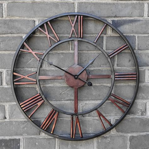 horloge murale antique buy 2016 oversized vintage wrought iron wall clock large retro clocks big 3d creative saat reloj