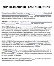 Month To Month Lease Template by Doc 600776 Roommate Rental Agreement Free Printable