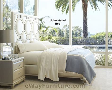 after eight upholstered bed in pearl bedroom set