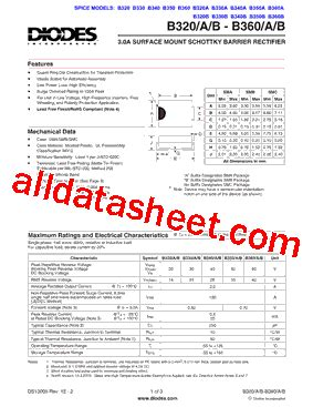 diodes inc b340a b340a 13 데이터시트 pdf diodes incorporated