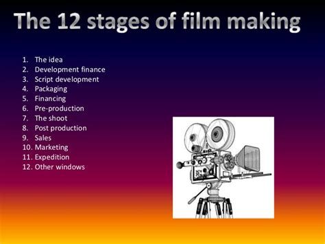 film making it 12 stages of film making