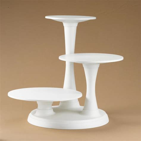 Cake Stand Simple White Large wilton 3 tier pillar cake stand cake pan