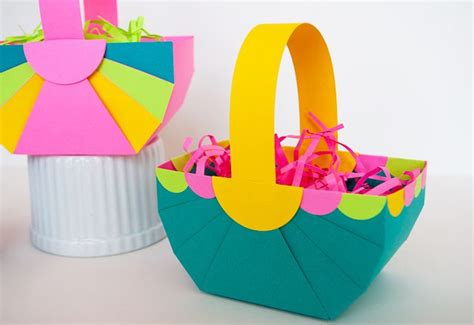 How To Make A Paper Easter Basket - 24 easter basket ideas we