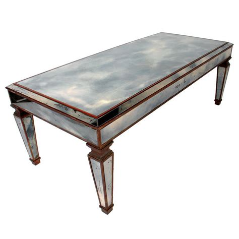 vintage 1940 s mirrored coffee table wonderful patina at