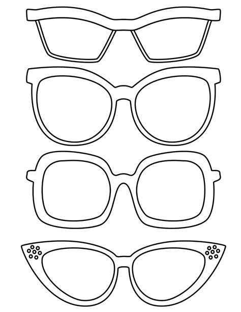 color templates free glasses template coloring pages