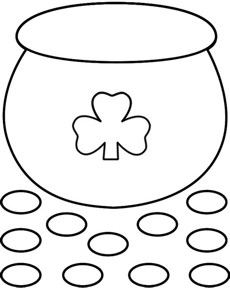 pot of gold template pot of gold paper craft black and white template