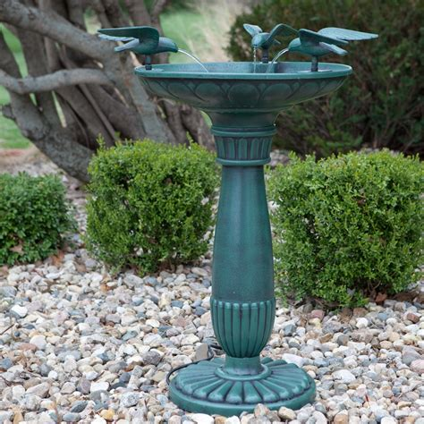 alpine rosemont bird bath fountain at hayneedle
