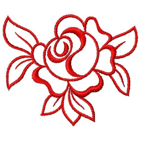 embroidery design outline free rose outline embroidery design annthegran