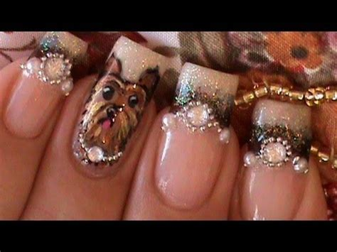 new yorkie nails glitter tutorials new donut with pearls doovi