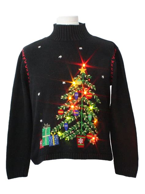 womens lightup ugly christmas sweater classic elements