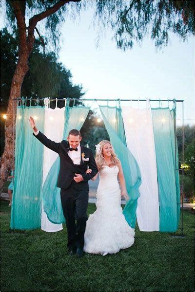 diy drapes for wedding trellis entrances with draping fabric diy wedding decor