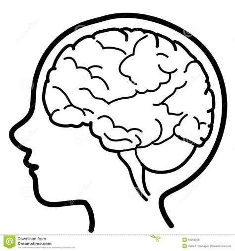 Thinking Outline by Thinking Brain Clipart Black And White Clipartxtras