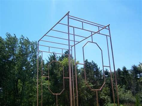 copper pipe trellis fences gates walls trellises