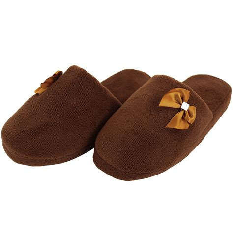 warm house slippers womens cozy plush slippers house shoes fuzzy slip on soft warm fleece indoor new ebay