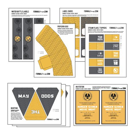 printable hunger games the hunger games movie night and free printables taryn