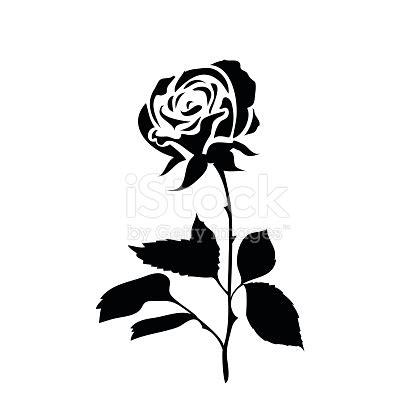 sagoma stilizzata di una rosa immagini vettoriali stock