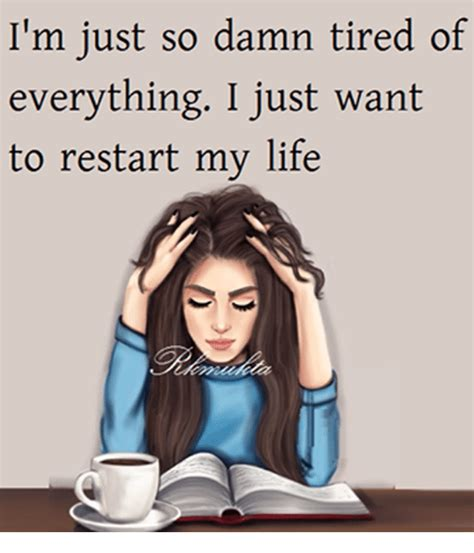 Funny Restart Memes of 2017 on SIZZLE | Wify I'm Just Tired Of Everything