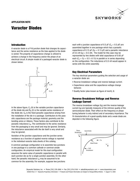 varactor diode and its application varactor diode applications 28 images article basic diode types electronics infoline